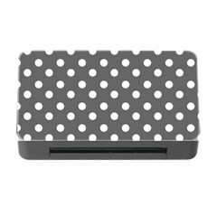 Gray Polka Dots Memory Card Reader with CF