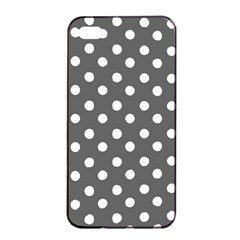 Gray Polka Dots Apple iPhone 4/4s Seamless Case (Black)