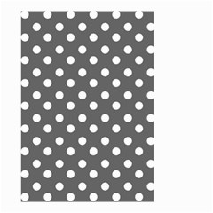 Gray Polka Dots Small Garden Flag (Two Sides)