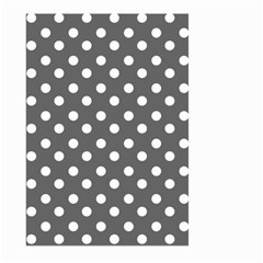 Gray Polka Dots Large Garden Flag (Two Sides)