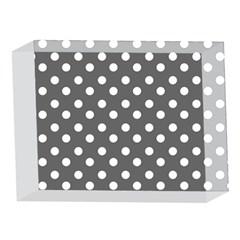 Gray Polka Dots 5 x 7  Acrylic Photo Blocks