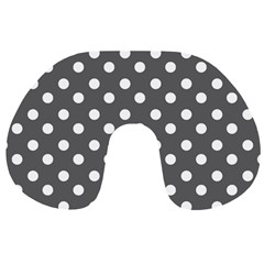 Gray Polka Dots Travel Neck Pillows