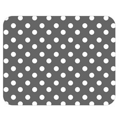 Gray Polka Dots Double Sided Flano Blanket (medium)