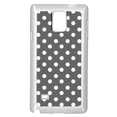 Gray Polka Dots Samsung Galaxy Note 4 Case (white)