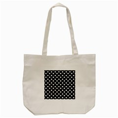 Black And White Polka Dots Tote Bag (Cream)