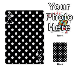 Black And White Polka Dots Playing Cards 54 Designs