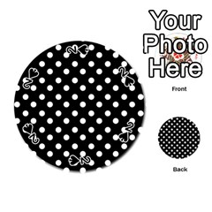 Black And White Polka Dots Playing Cards 54 (Round)