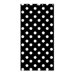 Black And White Polka Dots Shower Curtain 36  x 72  (Stall)