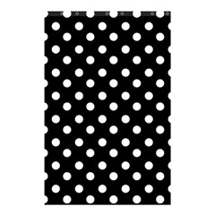 Black And White Polka Dots Shower Curtain 48  x 72  (Small)