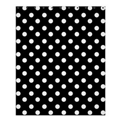 Black And White Polka Dots Shower Curtain 60  x 72  (Medium)
