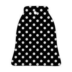 Black And White Polka Dots Ornament (Bell)