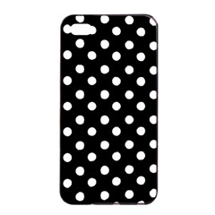 Black And White Polka Dots Apple Iphone 4/4s Seamless Case (black)