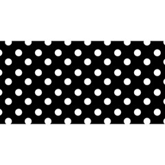 Black And White Polka Dots YOU ARE INVITED 3D Greeting Card (8x4)