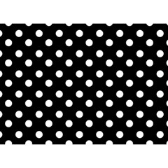 Black And White Polka Dots Birthday Cake 3d Greeting Card (7x5)