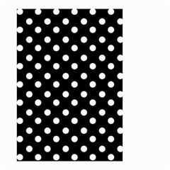 Black And White Polka Dots Small Garden Flag (Two Sides)