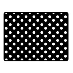 Black And White Polka Dots Double Sided Fleece Blanket (small)