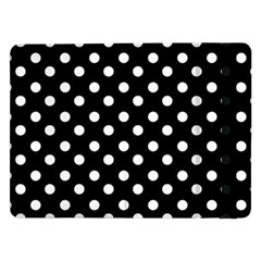 Black And White Polka Dots Samsung Galaxy Tab Pro 12 2  Flip Case
