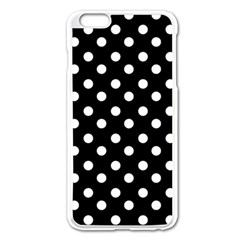 Black And White Polka Dots Apple Iphone 6 Plus Enamel White Case