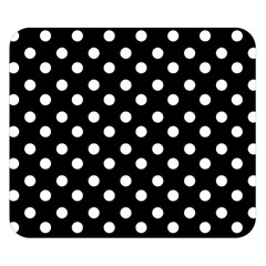 Black And White Polka Dots Double Sided Flano Blanket (small)