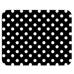 Black And White Polka Dots Double Sided Flano Blanket (medium)