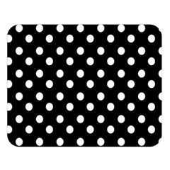 Black And White Polka Dots Double Sided Flano Blanket (large)