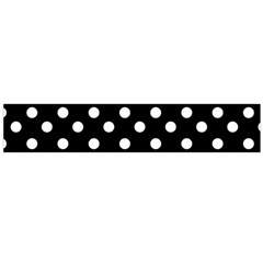 Black And White Polka Dots Flano Scarf (Large)
