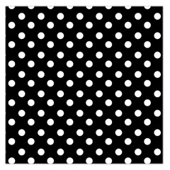 Black And White Polka Dots Large Satin Scarf (Square)