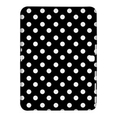 Black And White Polka Dots Samsung Galaxy Tab 4 (10.1 ) Hardshell Case