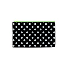 Black And White Polka Dots Cosmetic Bag (xs)