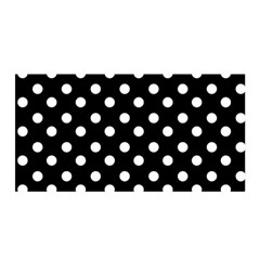 Black And White Polka Dots Satin Wrap