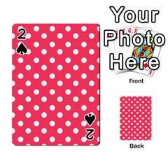Hot Pink Polka Dots Playing Cards 54 Designs