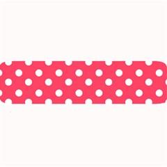 Hot Pink Polka Dots Large Bar Mats