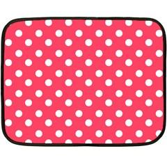 Hot Pink Polka Dots Fleece Blanket (mini)
