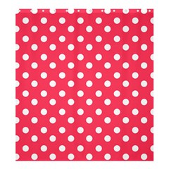 Hot Pink Polka Dots Shower Curtain 66  x 72  (Large)