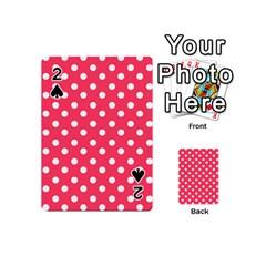 Hot Pink Polka Dots Playing Cards 54 (Mini)