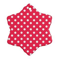 Hot Pink Polka Dots Ornament (Snowflake)
