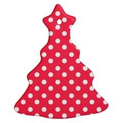 Hot Pink Polka Dots Ornament (christmas Tree)