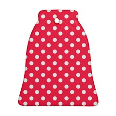 Hot Pink Polka Dots Bell Ornament (2 Sides)
