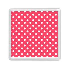 Hot Pink Polka Dots Memory Card Reader (square)