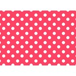 Hot Pink Polka Dots You Rock 3D Greeting Card (7x5)  Front