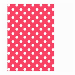 Hot Pink Polka Dots Small Garden Flag (two Sides)