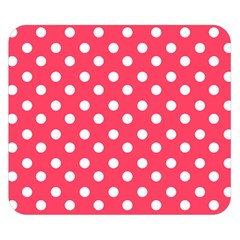 Hot Pink Polka Dots Double Sided Flano Blanket (Small)