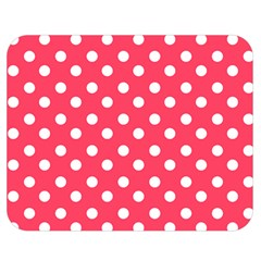 Hot Pink Polka Dots Double Sided Flano Blanket (medium)