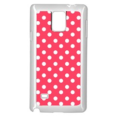Hot Pink Polka Dots Samsung Galaxy Note 4 Case (White)