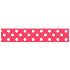 Hot Pink Polka Dots Flano Scarf (small)