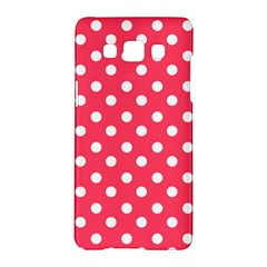Hot Pink Polka Dots Samsung Galaxy A5 Hardshell Case
