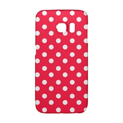 Hot Pink Polka Dots Galaxy S6 Edge