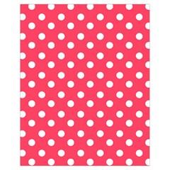 Hot Pink Polka Dots Drawstring Bag (Small)