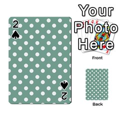 Mint Green Polka Dots Playing Cards 54 Designs
