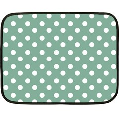 Mint Green Polka Dots Fleece Blanket (mini)